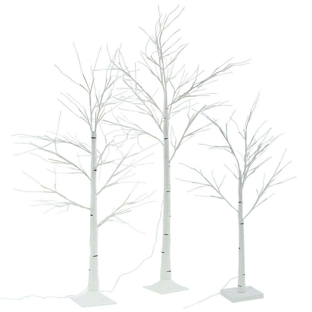 Outdoor White Twig Christmas Tree: LED Light Up 1.25 White Birch Twig Tree Indoor & Outdoor